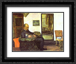 Ambroise Vollard 24x20 Black or Gold Ornate Framed and Double Matted Art Print by Pierre Bonnard