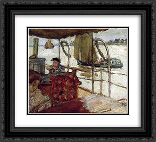 The Yacht 22x20 Black or Gold Ornate Framed and Double Matted Art Print by Pierre Bonnard