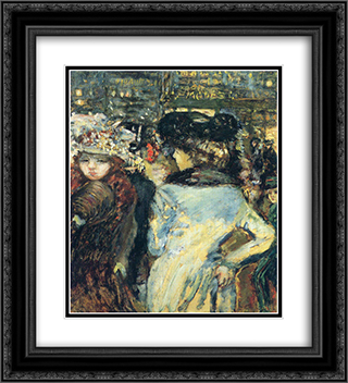 Two elegant Place de Clichy 20x22 Black or Gold Ornate Framed and Double Matted Art Print by Pierre Bonnard