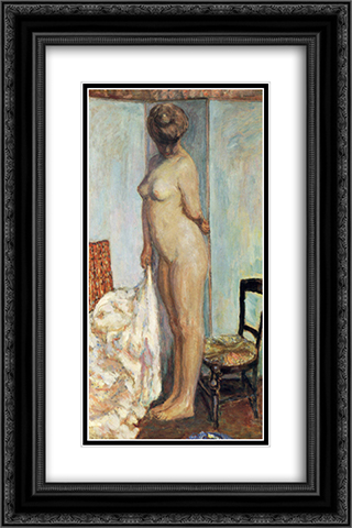 Tall Nude (also known as Woman Nude Standing) 16x24 Black or Gold Ornate Framed and Double Matted Art Print by Pierre Bonnard