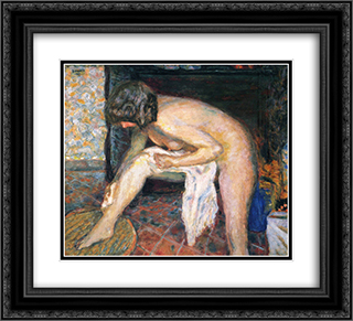 Woman leaning 22x20 Black or Gold Ornate Framed and Double Matted Art Print by Pierre Bonnard