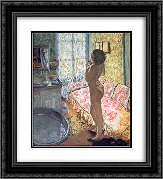 Model in Backlight 20x22 Black or Gold Ornate Framed and Double Matted Art Print by Pierre Bonnard