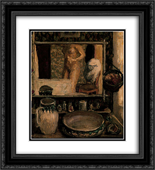 The Toilet 20x22 Black or Gold Ornate Framed and Double Matted Art Print by Pierre Bonnard