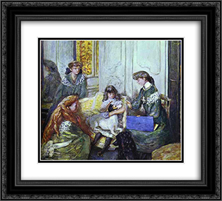 Natanson Girls 22x20 Black or Gold Ornate Framed and Double Matted Art Print by Pierre Bonnard