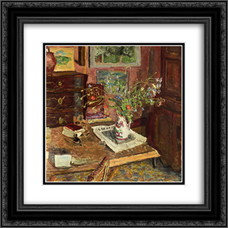 Norman Earthenware (also known as A Pot from Rouen) 20x20 Black or Gold Ornate Framed and Double Matted Art Print by Pierre Bonnard