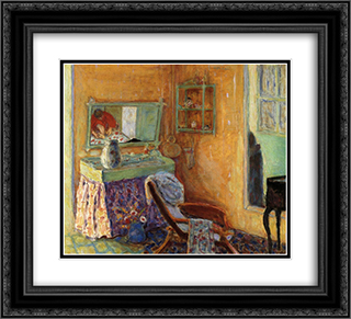 Interior 22x20 Black or Gold Ornate Framed and Double Matted Art Print by Pierre Bonnard