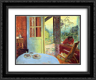 The Dining Room in the Country 24x20 Black or Gold Ornate Framed and Double Matted Art Print by Pierre Bonnard