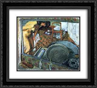 Tub in a Mirror 22x20 Black or Gold Ornate Framed and Double Matted Art Print by Pierre Bonnard