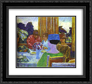 The Tea 22x20 Black or Gold Ornate Framed and Double Matted Art Print by Pierre Bonnard