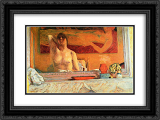 The Fireplace 24x18 Black or Gold Ornate Framed and Double Matted Art Print by Pierre Bonnard