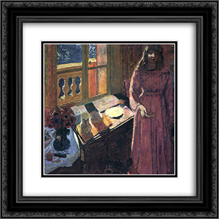 The Bowl of Milk 20x20 Black or Gold Ornate Framed and Double Matted Art Print by Pierre Bonnard