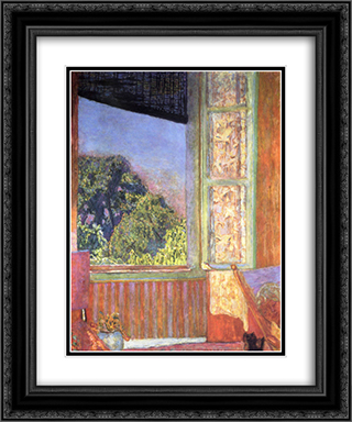 The Open Window 20x24 Black or Gold Ornate Framed and Double Matted Art Print by Pierre Bonnard