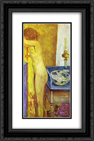 Nude at the Toilet Table 16x24 Black or Gold Ornate Framed and Double Matted Art Print by Pierre Bonnard