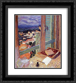The Window 20x22 Black or Gold Ornate Framed and Double Matted Art Print by Pierre Bonnard