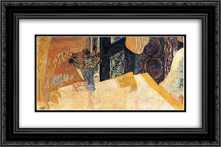 Still life with flowers or the Venus of Cyrene 24x16 Black or Gold Ornate Framed and Double Matted Art Print by Pierre Bonnard