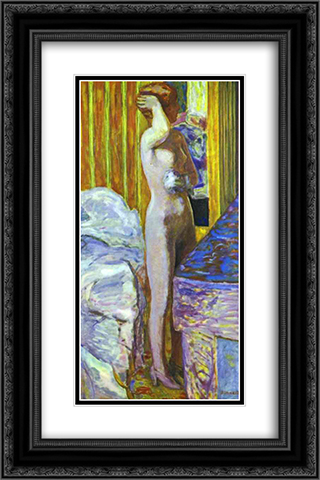 Standing Nude 16x24 Black or Gold Ornate Framed and Double Matted Art Print by Pierre Bonnard