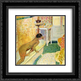 The exit of the bath 20x20 Black or Gold Ornate Framed and Double Matted Art Print by Pierre Bonnard