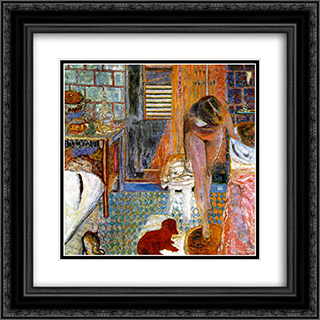 The Toilet 20x20 Black or Gold Ornate Framed and Double Matted Art Print by Pierre Bonnard