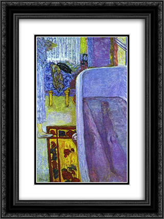 Nude in the Bathtub 18x24 Black or Gold Ornate Framed and Double Matted Art Print by Pierre Bonnard