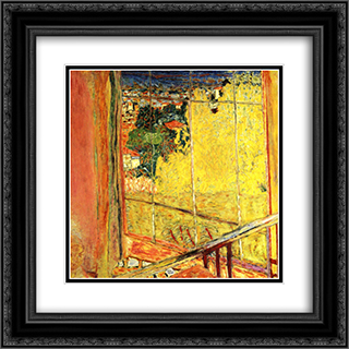 The workshop with Mimosa 20x20 Black or Gold Ornate Framed and Double Matted Art Print by Pierre Bonnard
