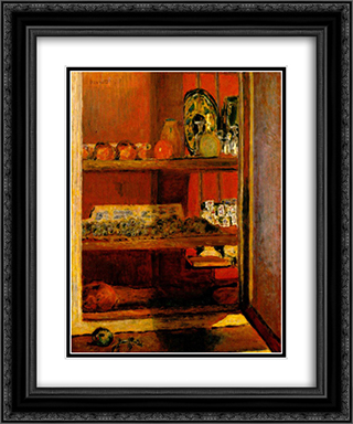 The Red Cupboard 20x24 Black or Gold Ornate Framed and Double Matted Art Print by Pierre Bonnard