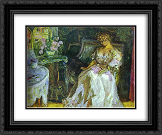 Misia 24x20 Black or Gold Ornate Framed and Double Matted Art Print by Pierre Bonnard