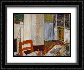 White Interior 24x20 Black or Gold Ornate Framed and Double Matted Art Print by Pierre Bonnard