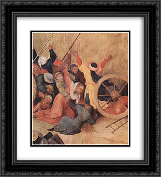 Haywain (detail) 20x22 Black or Gold Ornate Framed and Double Matted Art Print by Hieronymus Bosch