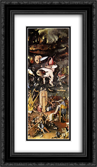 The Garden of Earthly Delights (detail) 14x24 Black or Gold Ornate Framed and Double Matted Art Print by Hieronymus Bosch