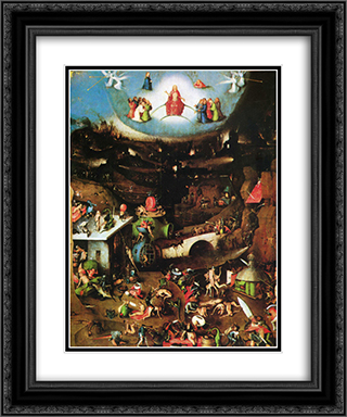 The Last Judgement (detail) 20x24 Black or Gold Ornate Framed and Double Matted Art Print by Hieronymus Bosch