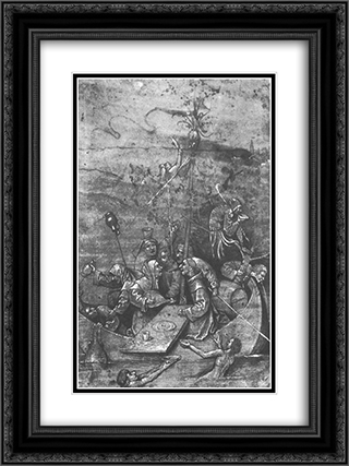 The Ship of Fools 18x24 Black or Gold Ornate Framed and Double Matted Art Print by Hieronymus Bosch