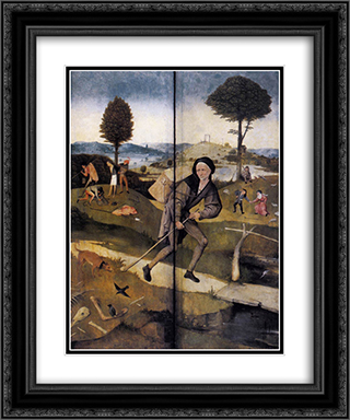 Haywain (detail) 20x24 Black or Gold Ornate Framed and Double Matted Art Print by Hieronymus Bosch