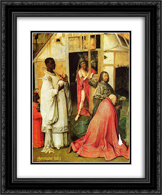 The Adoration of the Magi (detail) 20x24 Black or Gold Ornate Framed and Double Matted Art Print by Hieronymus Bosch