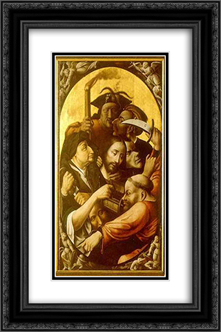 Passion of the Christ 16x24 Black or Gold Ornate Framed and Double Matted Art Print by Hieronymus Bosch