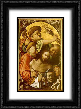 Passion of the Christ 18x24 Black or Gold Ornate Framed and Double Matted Art Print by Hieronymus Bosch