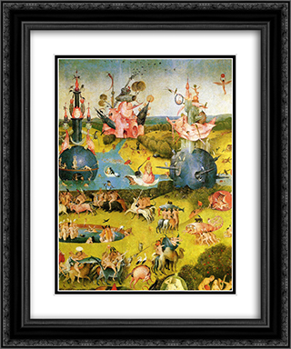 The Garden of Earthly Delights (detail) 20x24 Black or Gold Ornate Framed and Double Matted Art Print by Hieronymus Bosch