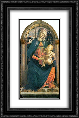 The Madonna of the Roses 16x24 Black or Gold Ornate Framed and Double Matted Art Print by Sandro Botticelli