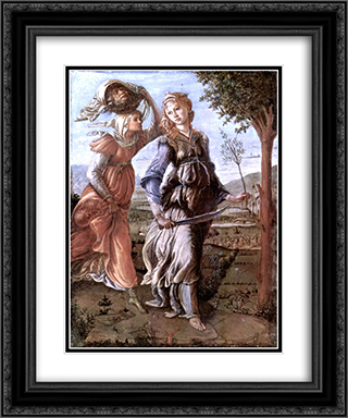 The return of Judith to Bethulia 20x24 Black or Gold Ornate Framed and Double Matted Art Print by Sandro Botticelli