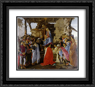 The Adoration of the Magi 22x20 Black or Gold Ornate Framed and Double Matted Art Print by Sandro Botticelli