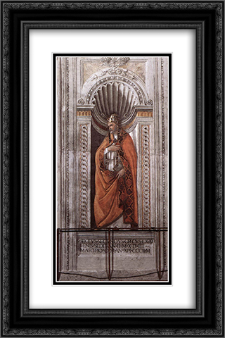 Sixtus II 16x24 Black or Gold Ornate Framed and Double Matted Art Print by Sandro Botticelli