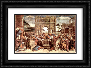 Scene from the Life of Moses 24x18 Black or Gold Ornate Framed and Double Matted Art Print by Sandro Botticelli