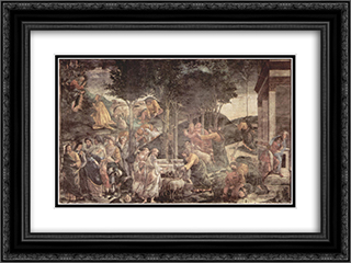 The Youth Moses 24x18 Black or Gold Ornate Framed and Double Matted Art Print by Sandro Botticelli