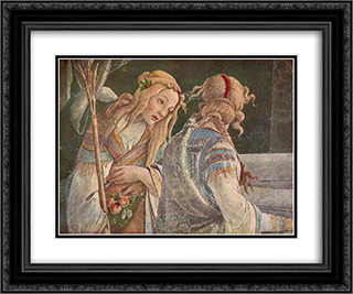 The Youth Moses (detail) 24x20 Black or Gold Ornate Framed and Double Matted Art Print by Sandro Botticelli