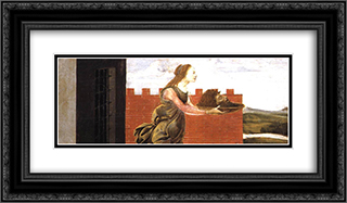 Salome with the Head of St John the Baptist 24x14 Black or Gold Ornate Framed and Double Matted Art Print by Sandro Botticelli