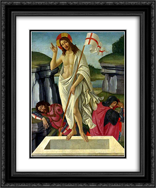 The Resurrection 20x24 Black or Gold Ornate Framed and Double Matted Art Print by Sandro Botticelli