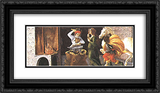 The Miracle of St. Eligius, predella panel from the Altarpiece of St. Mark 24x14 Black or Gold Ornate Framed and Double Matted Art Print by Sandro Botticelli