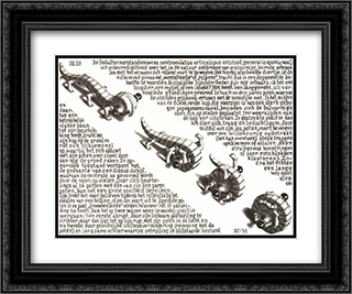 Curl Up 24x20 Black or Gold Ornate Framed and Double Matted Art Print by M.C. Escher