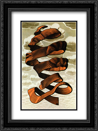 Rind 18x24 Black or Gold Ornate Framed and Double Matted Art Print by M.C. Escher