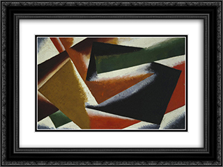 Painterly Architectonic 24x18 Black or Gold Ornate Framed and Double Matted Art Print by Lyubov Popova