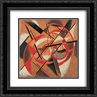 Space Force Construction 20x20 Black or Gold Ornate Framed and Double Matted Art Print by Lyubov Popova